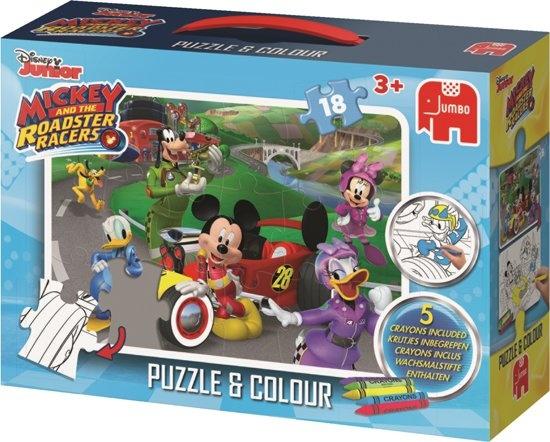 Jumbo kleurplaatpuzzel Disney Mickey Mouse 23 delig