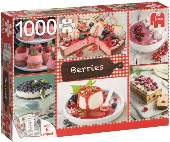 Jumbo legpuzzel Bessen met zes recepten 1000 stukjes