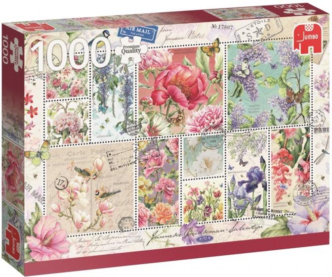 Bloemen postzegels puzzel