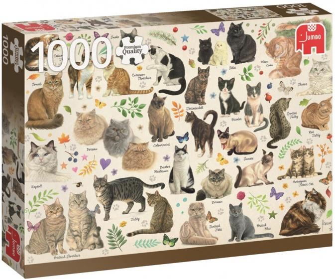 Jumbo legpuzzel Cats 1000 stukjes
