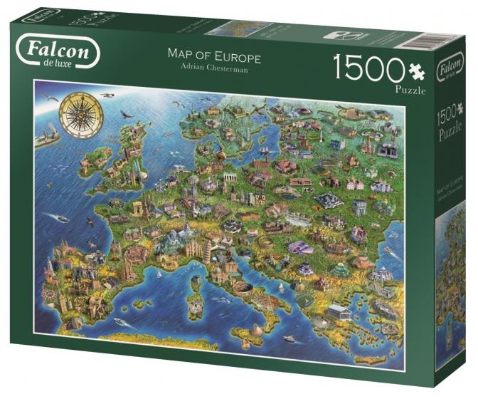 Jumbo legpuzzel Falcon Map of Europe 1500 stukjes