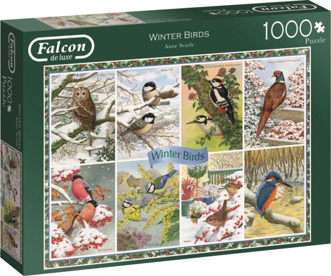 Jumbo legpuzzel Falcon Winter Birds 1000 stukjes