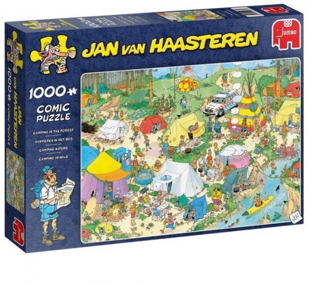 Jumbo legpuzzel jan van Haasteren kamperen in het bos 1000 stukjes