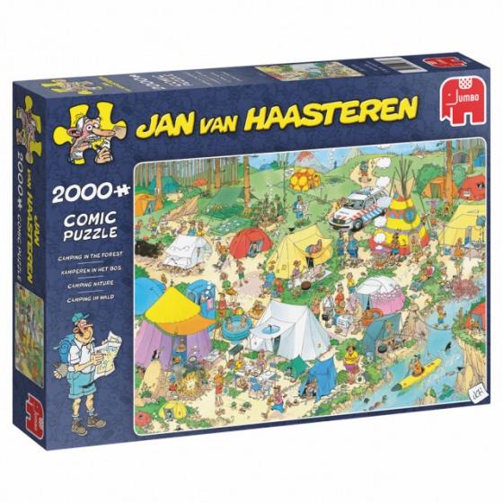 Jumbo legpuzzel Jan van Haasteren Kamperen in het bos 2000 stukjes