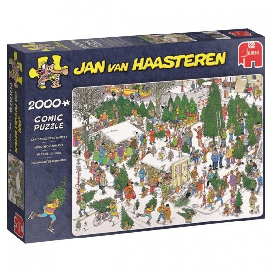 Jumbo legpuzzel Jan van Haasteren Kerstbomenmarkt 2000 stukjes