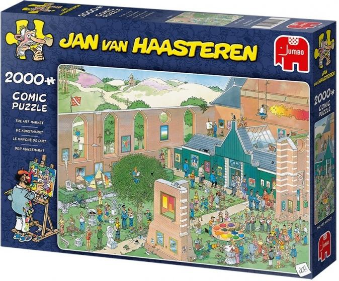 Jumbo legpuzzel Jan van Haasteren The Art Market 2000 stukjes