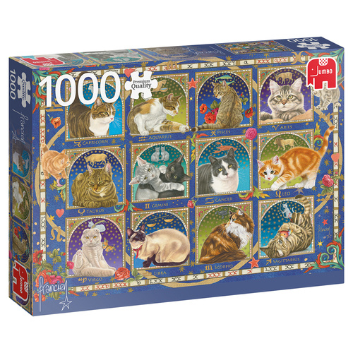 Jumbo legpuzzel kattenhoroscoop 1000 stukjes