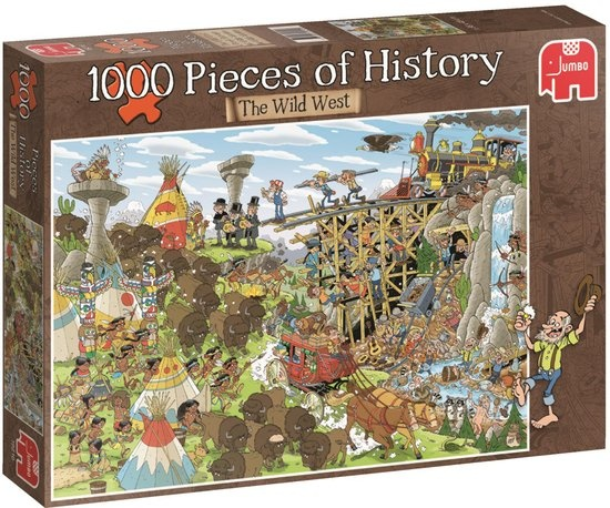 Jumbo legpuzzel Pieces of History: Wild West 1000 delig