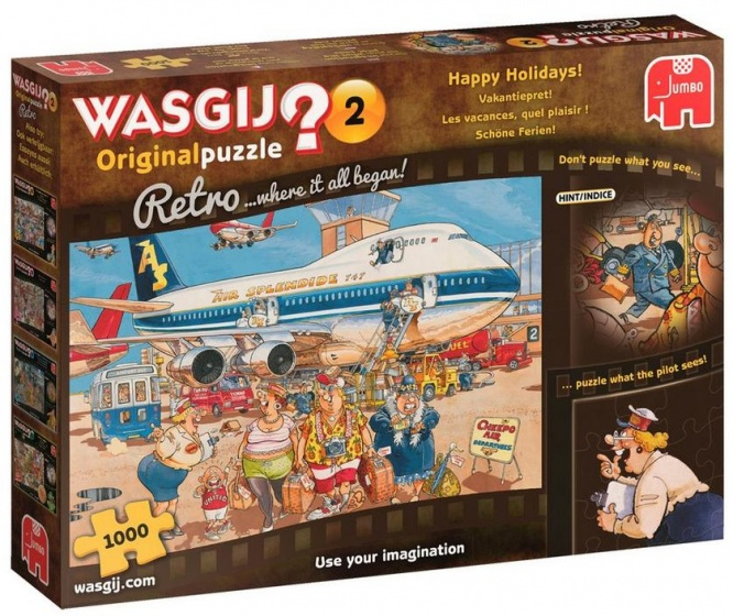 Wasgij Retro Original 2 Happy Holidays 1000 pcs 1000stuk(s)