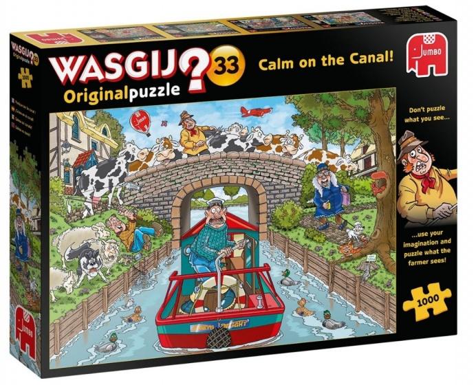 Jumbo legpuzzel Wasgij Original 33 Rustig aan het kanaal 1000 st.