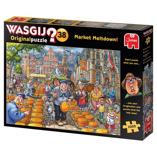 Jumbo legpuzzel Wasgij Market Meltdown! 1000 stukjes