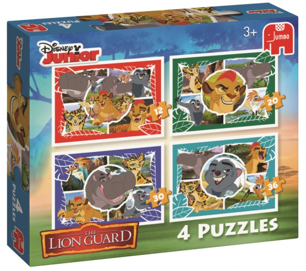 Jumbo Lion Guard 4 puzzels 12 tot 36 stukjes