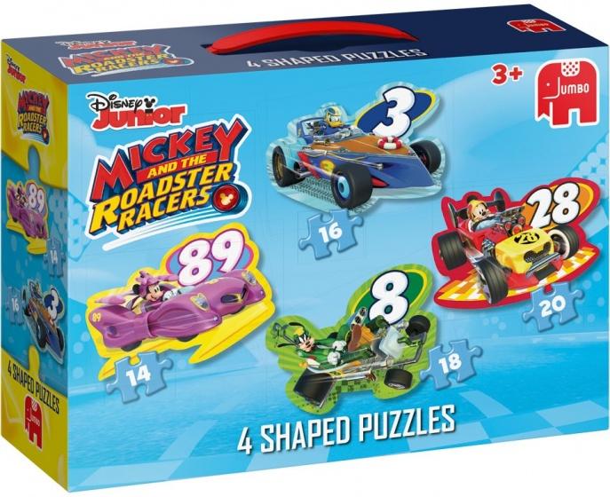 Jumbo Mickey Mouse 4 puzzels 14 tot 20 stukjes