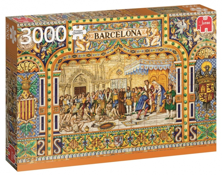 Jumbo PC Tiles of Barcelona legpuzzel 3000 stukjes