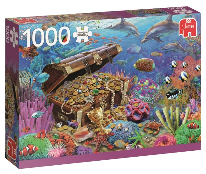 Jumbo PC Underwater Treasure legpuzzel 1000 stukjes
