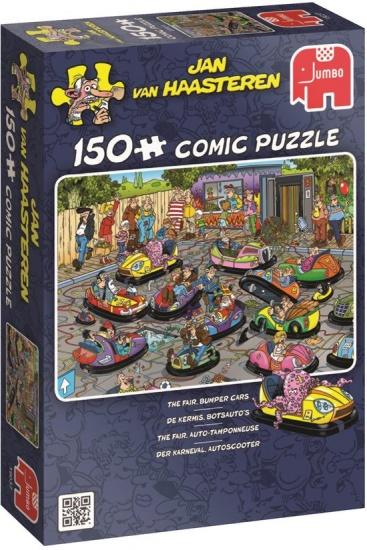Jumbo Puzzel JvH: De Kermis Botsauto's 150 stukjes