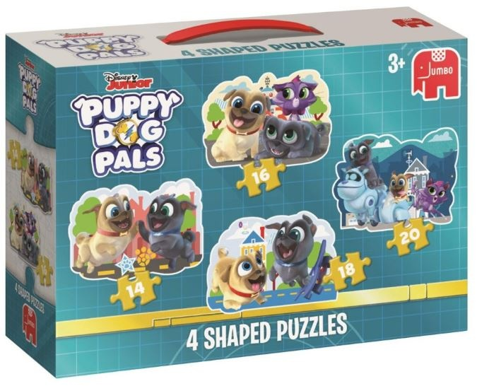 Jumbo Puzzel Puppy Dog Pals 4 in 1 14/16/18/20 stukjes