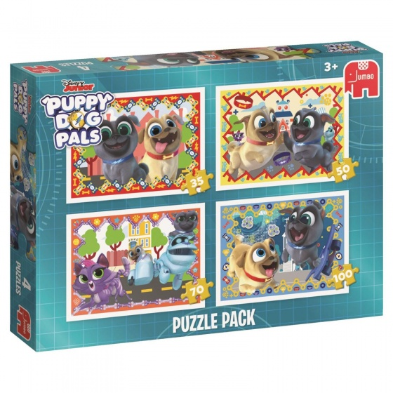 Jumbo Puzzel Puppy Dog Pals 4 in 1 35-50-70-100 stukjes