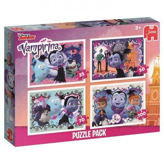 Jumbo Puzzel Vampirina 4 in 1 35/50/70/100 stukjes