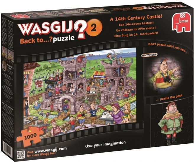 Jumbo Puzzel Wasgij Back To 02: kasteel 1000 stukjes