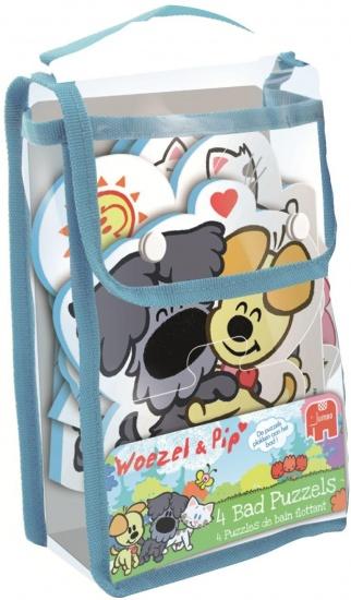 Jumbo Puzzel Woezel en Pip 4 in 1: badpuzzel