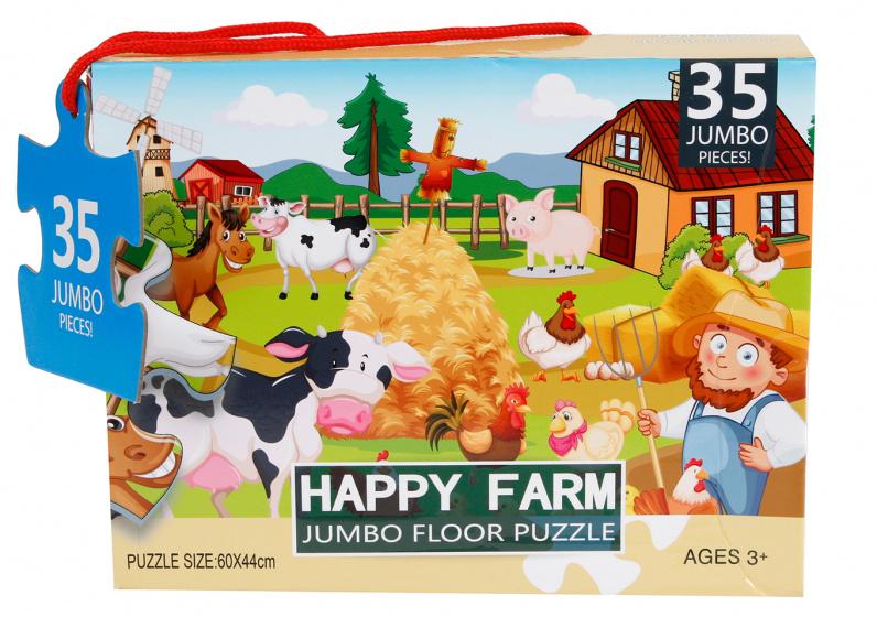 Jumbo vloerpuzzel Happy Farm 60 x 44 cm 35 stukjes kopen