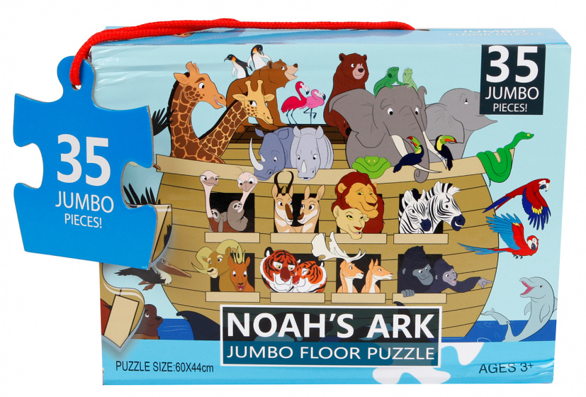 Jumbo vloerpuzzel Noah's Ark 60 x 44 cm 35 stukjes kopen