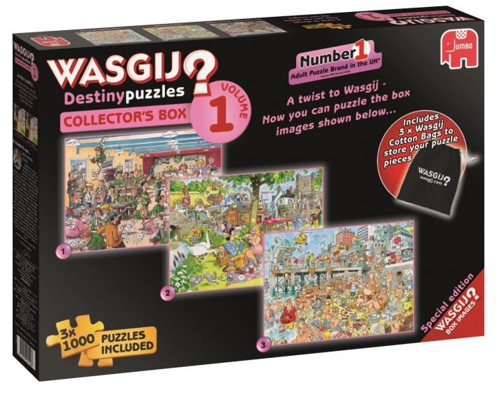 Wasgij Destiny Collector Box 01: 3x 1000 stukjes