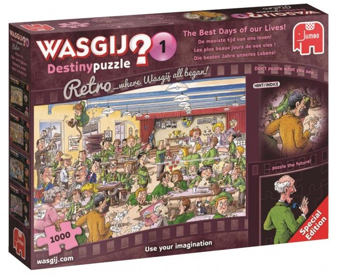 Jumbo Wasgij Destiny Retro deel 1! puzzel 1000 stukjes