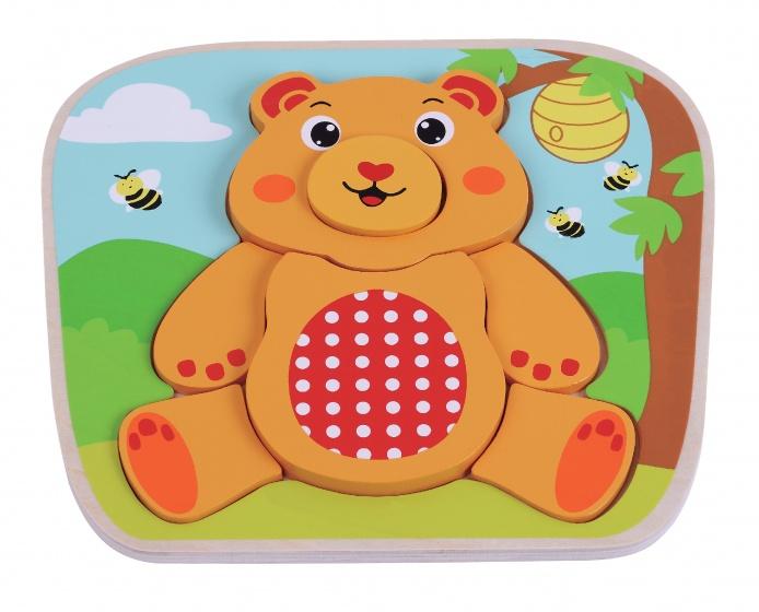 Jumini Houten vormenpuzzel beer 7 delig