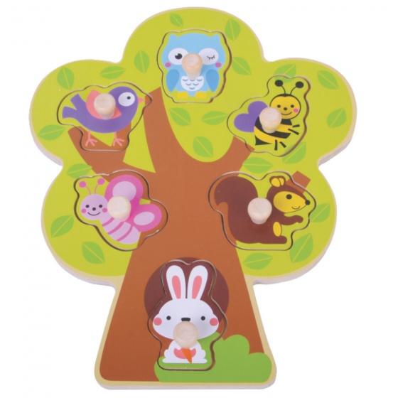 Jumini Houten vormenpuzzel boom 6 delig