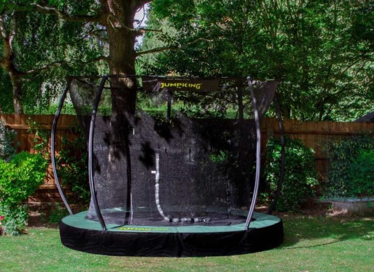 Jumpking trampoline InGround Deluxe 4,27 meter zwart/groen