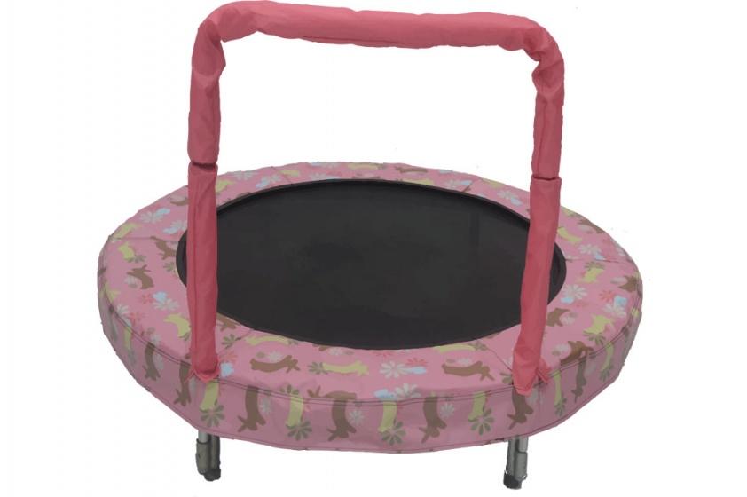 Jumpking trampoline Mini Bouncer Pink Bunny 121 cm roze