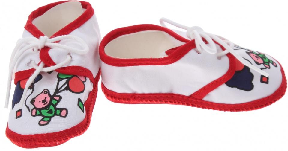 Junior Joy babyschoenen Newborn junior wit/rood met beertje kopen