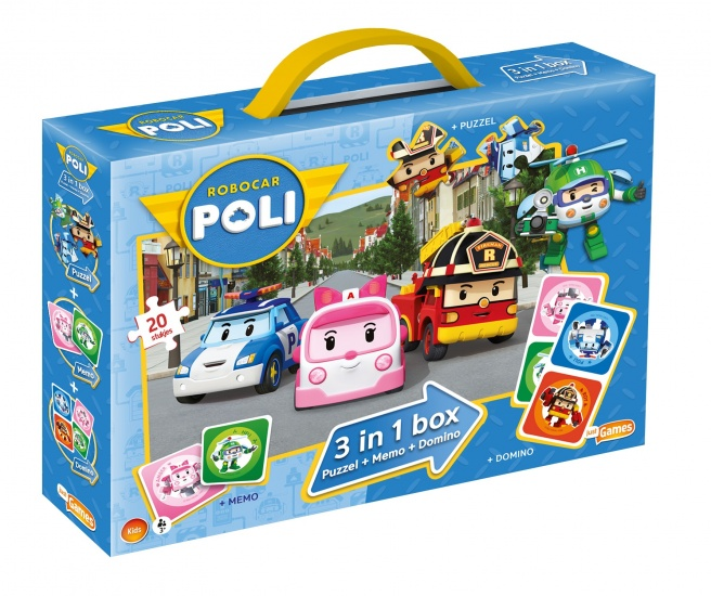 Just2play spel 3 in 1 Robocar Poli