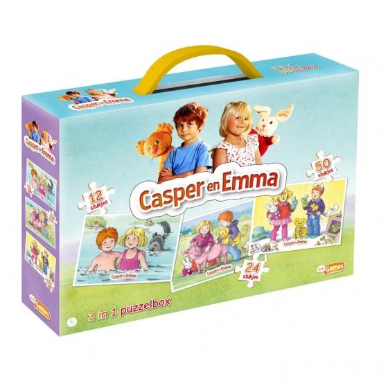 Just Games 3 in 1 puzzelbox Casper en Emma
