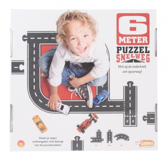 Just Games Snelwegpuzzel 6 meter junior zwart