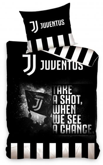 Juventus dekbedovertrek 140 x 200 cm wit/zwart