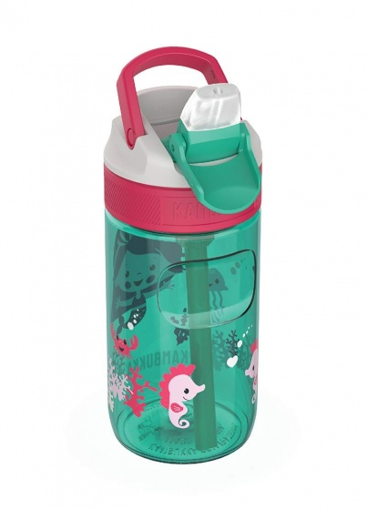 Kambukka drinkfles Lagoon Ocean Mermaid 400 ml groen/roze