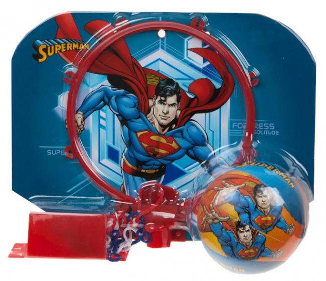 Kamparo basketbalring met bal Superman rood 29 x 22 cm kopen