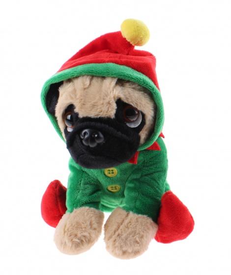 Kamparo hondenknuffel kerstpak 20 cm groen