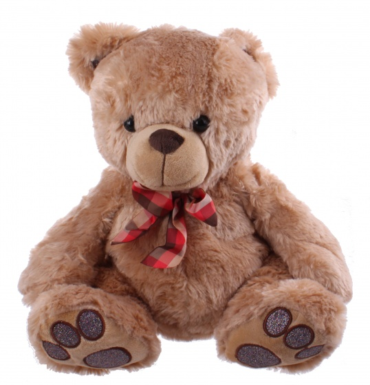 Kamparo teddy bear with bow brown 32 cm