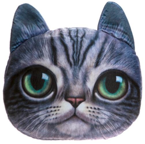 Kamparo kussen kattenkop 37 cm paars