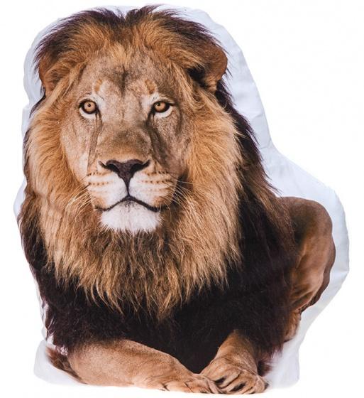Kamparo kussen leeuw wit/bruin 62 cm