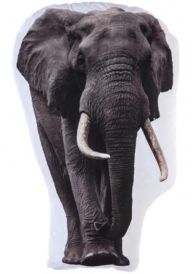 Kamparo kussen olifant wit/grijs 62 cm