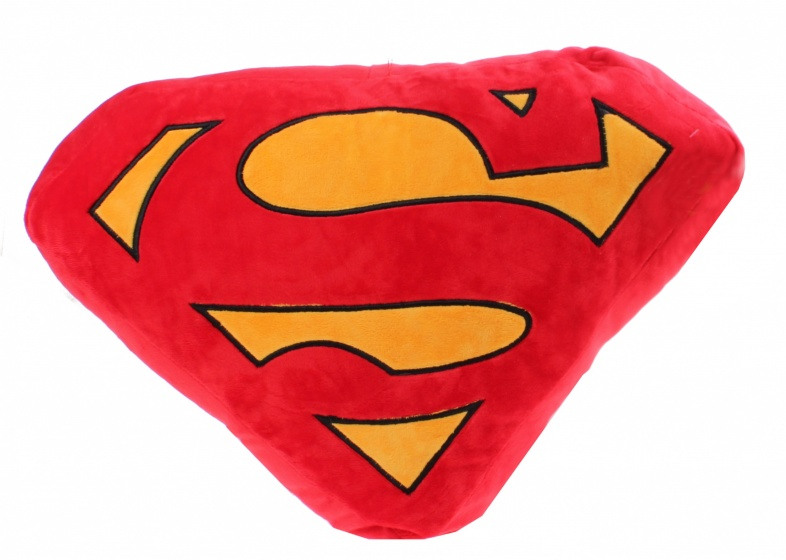 Kamparo kussen Supermanlogo rood/geel 45x35 cm