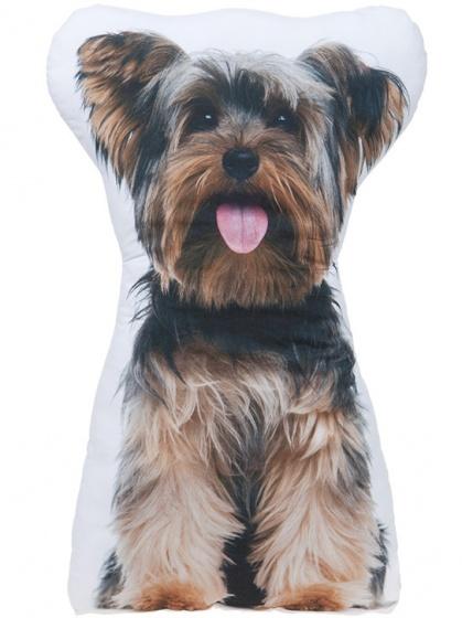 Kamparo kussen Yorkshire Terrier wit/bruin/zwart 62 cm