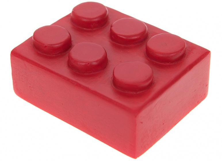Kamparo mini legosteentje beeldje 5x4x3 cm rood