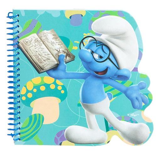 Kamparo notitieboekje De Smurfen Brilsmurf blauw 16x15 cm kopen