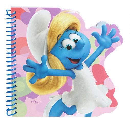 Kamparo notitieboekje De Smurfen Smurfin blauw/roze 16x15 cm kopen